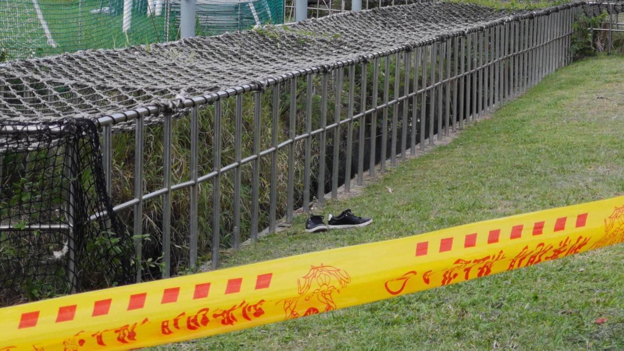 女大生陳屍大南抽水站的溝渠內,警方到場鑑識,很多疑點待釐清。 記者李承穎/翻攝