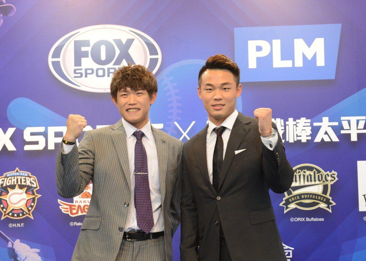 陳冠宇(左)與王柏融。 報系資料照
