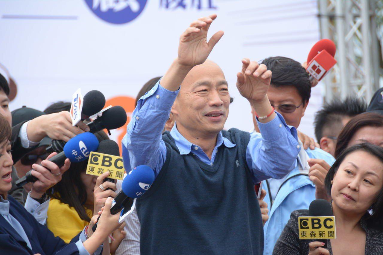 高雄市長韓國瑜靠著網路聲量大。記者吳淑玲/攝影