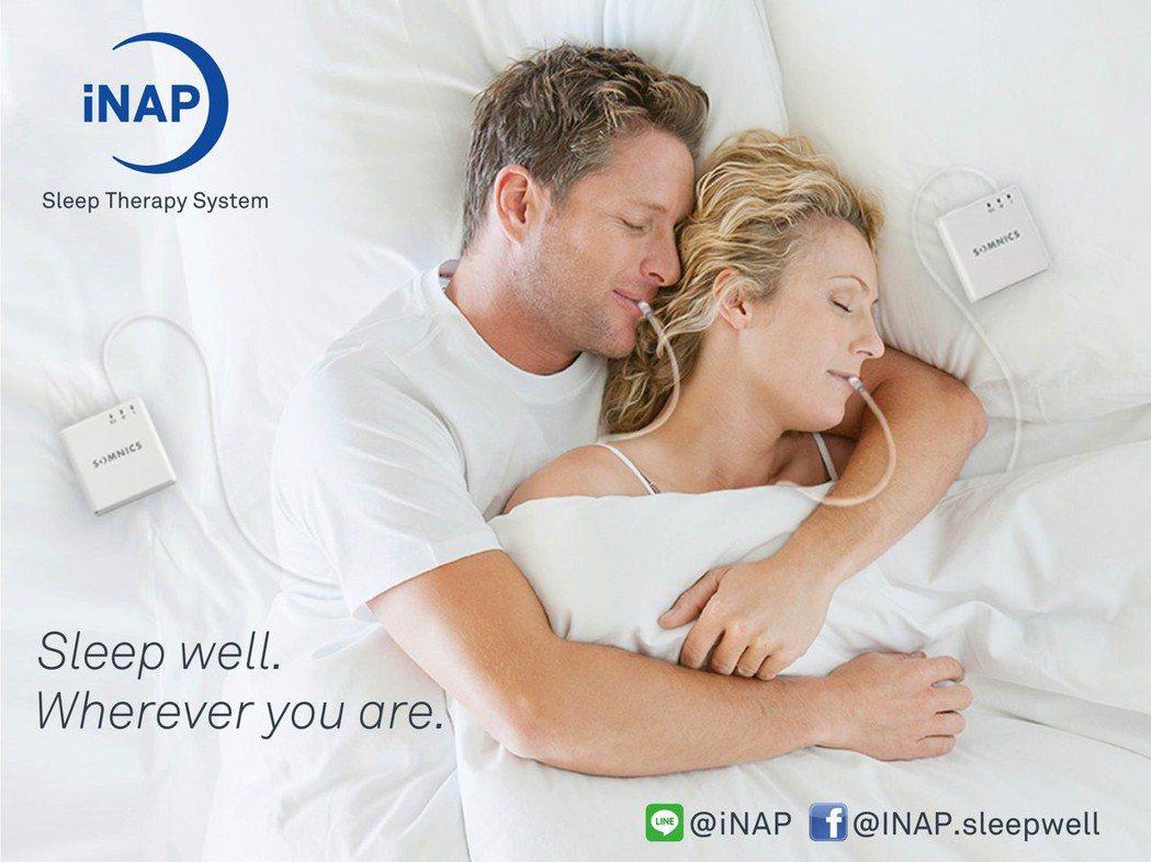 萊鎂醫發表新款的iNAP負壓睡眠呼吸器。 萊鎂醫/提供