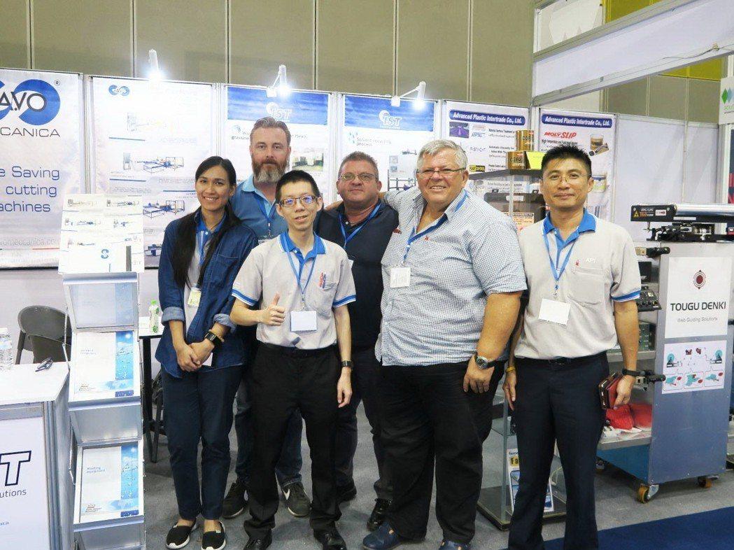 東電研參加東南亞國際薄膜加工技術展,推動產業自動化。 東電研/提供