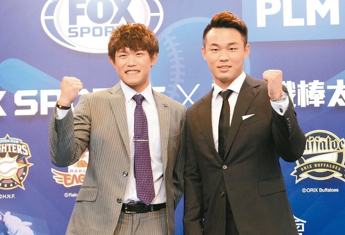 陳冠宇(左)昨與王柏融同日出賽。 圖/聯合報系資料照片