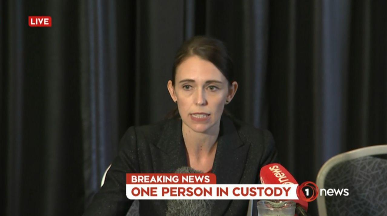 紐西蘭總理阿爾登認為濫射事件是國家史上「最黑暗的日子」之一。 法新社