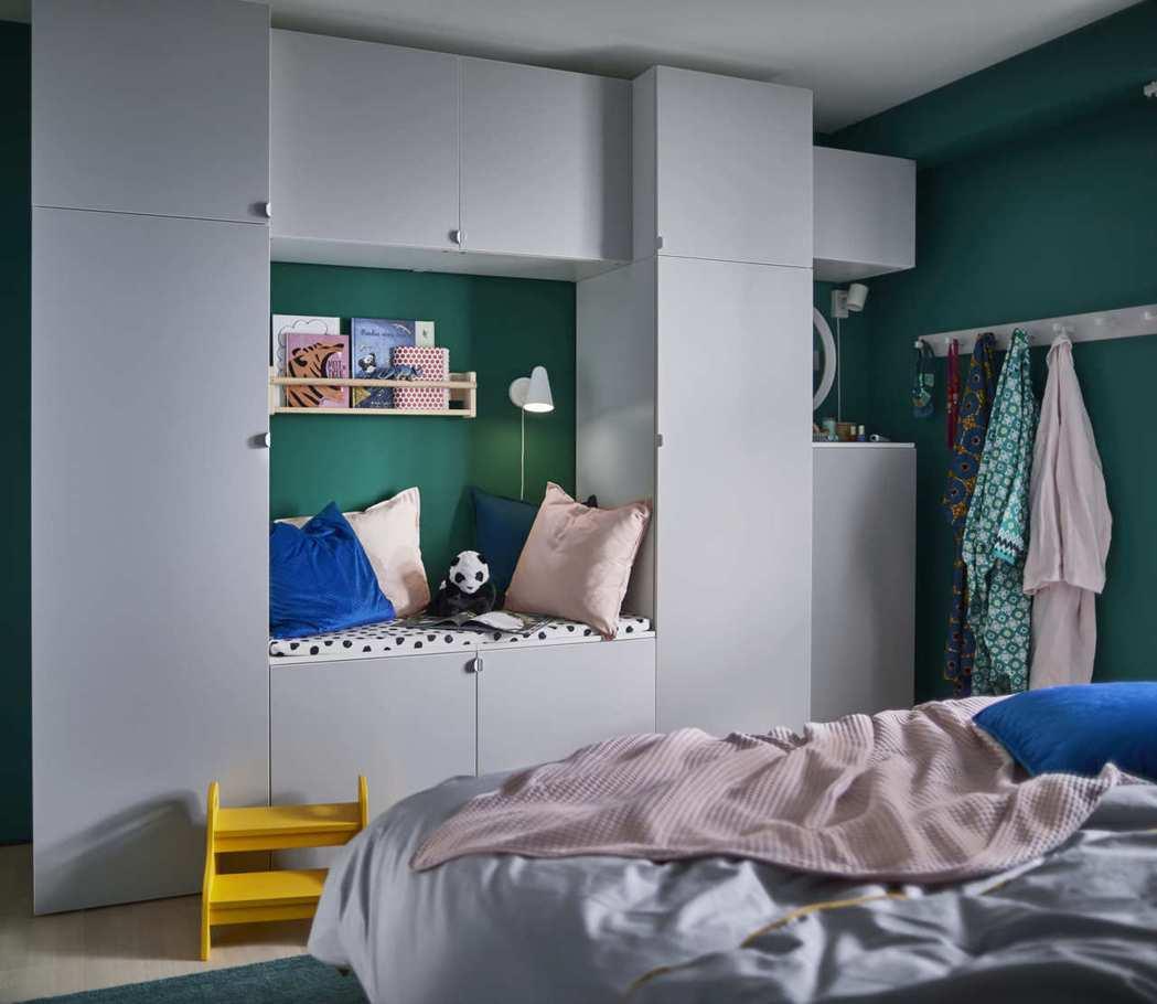 PLATSA系統衣櫃可依據收納需求與空間大小自由組合,搭配出專屬於個人風格的超強...