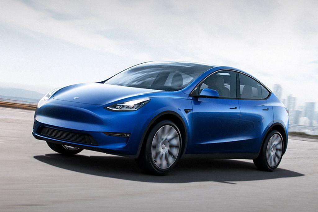 美國豪華電動車廠特斯拉,今日(14)發表平價休旅作品Model Y。 圖/Tes...