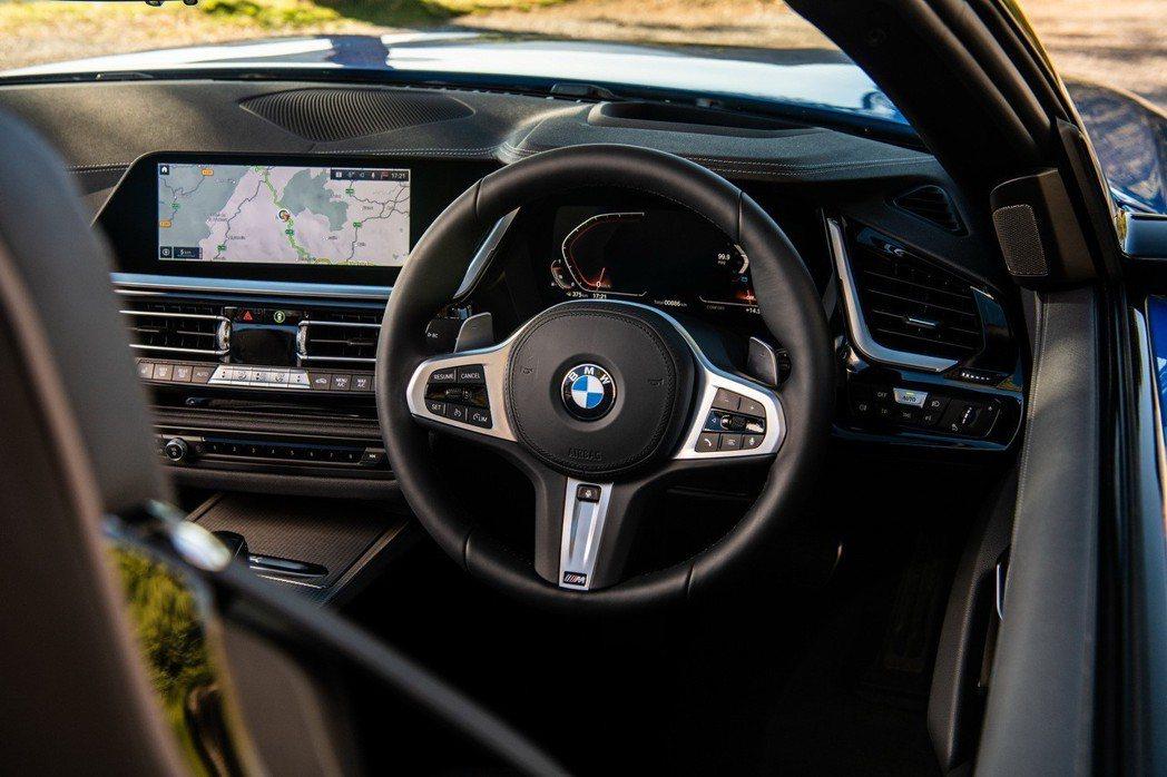 右駕版BMW Z4車室。 摘自BMW UK