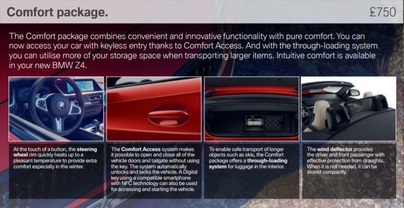 英國BMW提供的Z4 Comfort套件,包括可藉由手機連結BMW APP,進而...