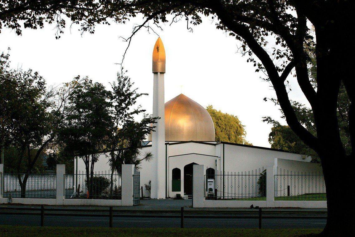 圖為努爾清真寺。兩起清真寺槍擊目前已造成49人死亡,其中41人死於努爾清真寺,死...