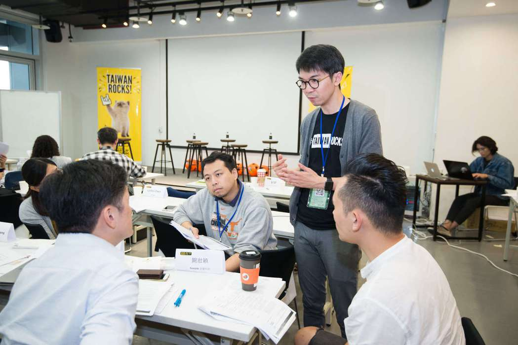 2018 TSS投資條件書訓練營台北場,講師帶領團隊討論。 台灣新創競技場/提供