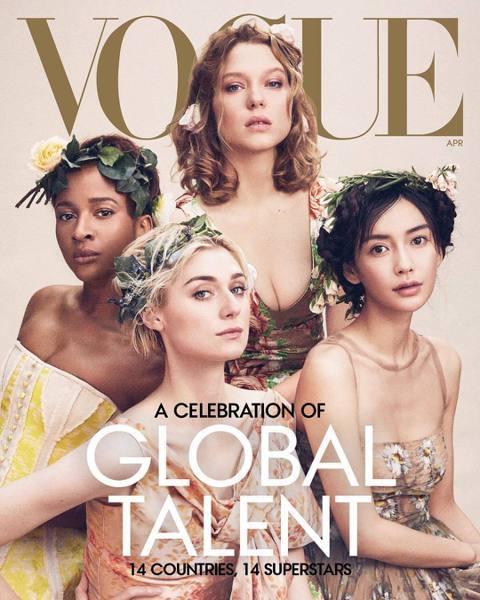 被視為「時尚聖經」的「Vogue」雜誌,將在4月推出的最新一期以「全球藝人」為主題,封面人物破天荒由不同國家的幾位女演員一起搶占,其中觀眾最熟悉的當然是漫威英雄影片中的「黑寡婦」思嘉莉約翰森,她與寶...