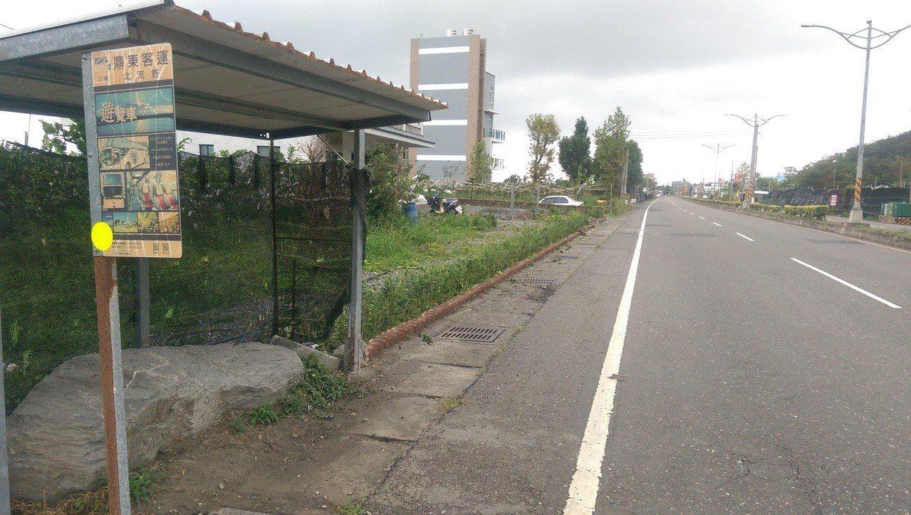 民眾看到這處公車站說:「真的是名副其『石』,果然是北荒野站」。記者尤聰光/攝影