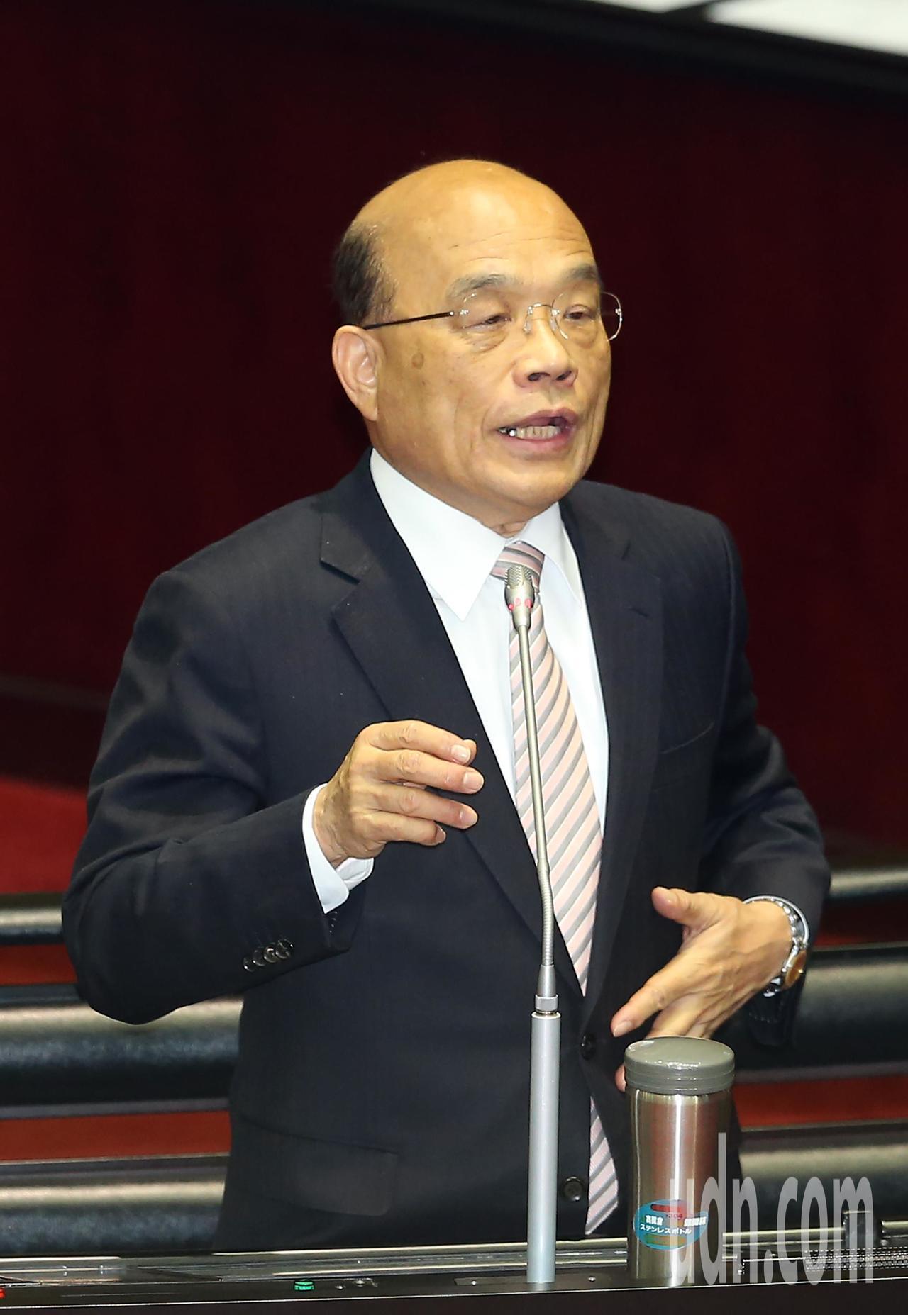 行政院長蘇貞昌上午在立法院答詢時,表示對司法改革不滿意。記者曾吉松/攝影