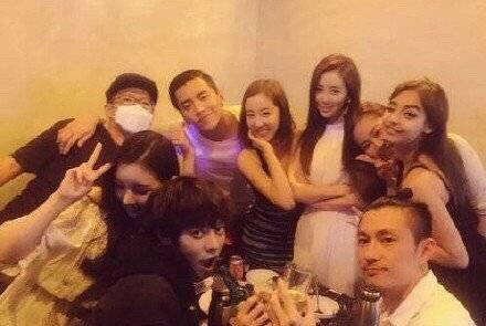 王大陸與勝利、鄭俊英都曾私下聚會。圖/摘自星娛醬微博