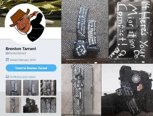 疑似槍手之一的塔倫,曾在網路上發表一份長達74頁犯罪宣言。圖片來源/New Ze...