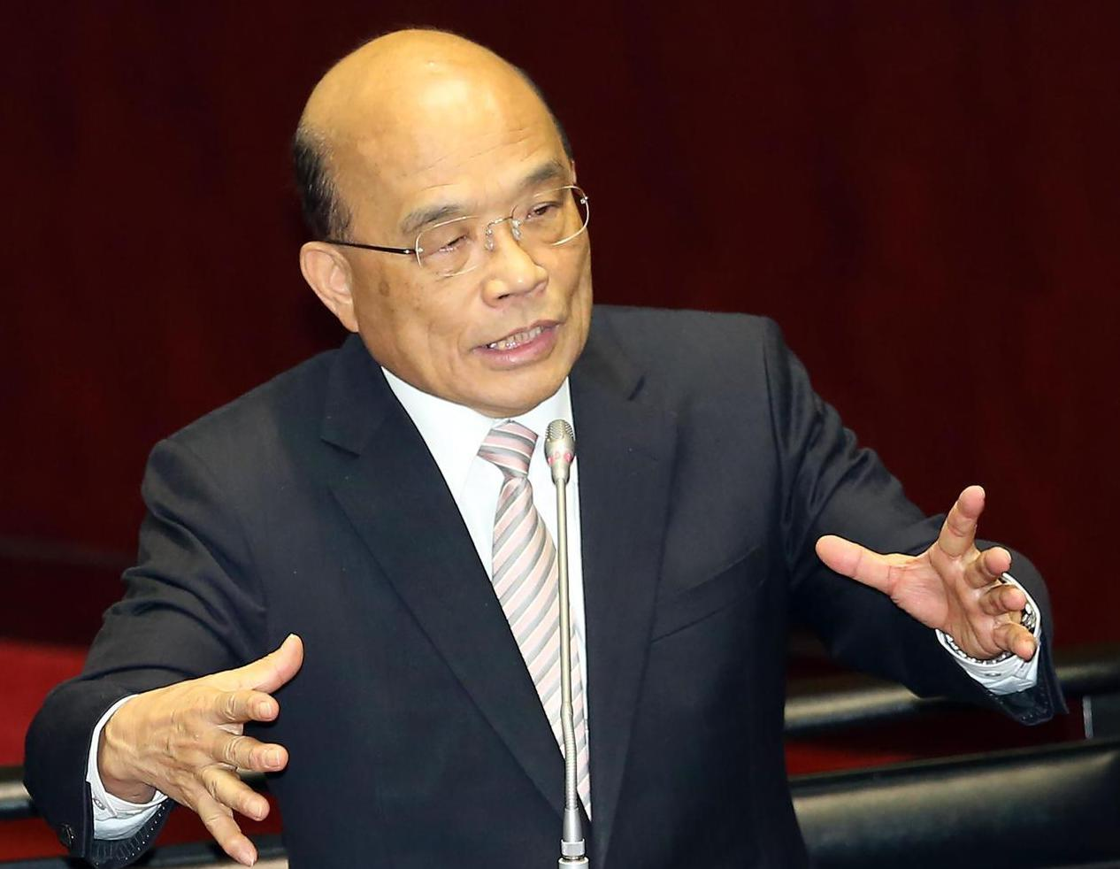 行政院長蘇貞昌昨天上午在立法院答詢時,表示對司法改革不滿意。記者曾吉松/攝影