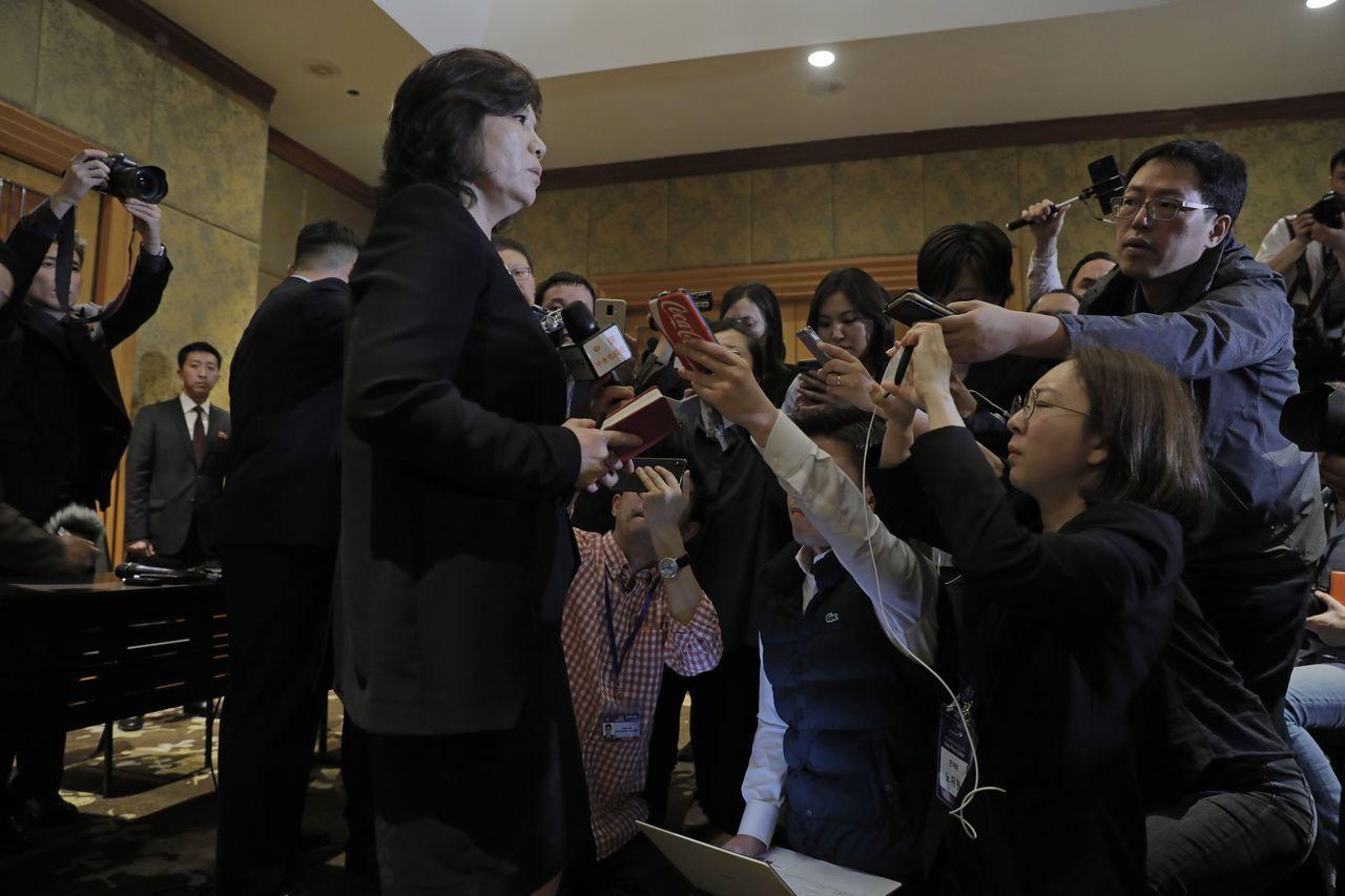 北韓副外相崔善姬。美聯社