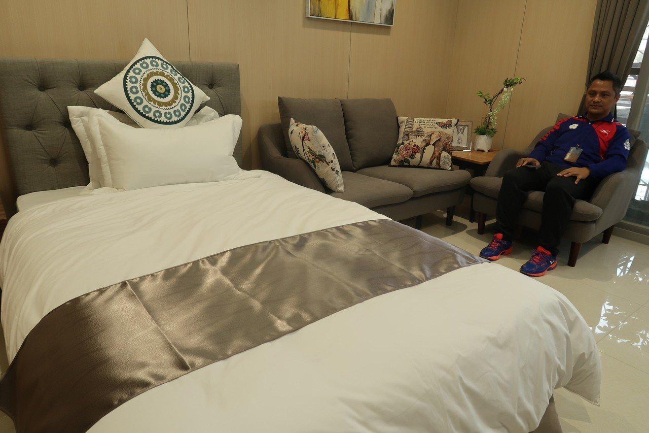 國訓中心展示新宿舍工程樣品屋,很有飯店的Fu。記者徐如宜/攝影