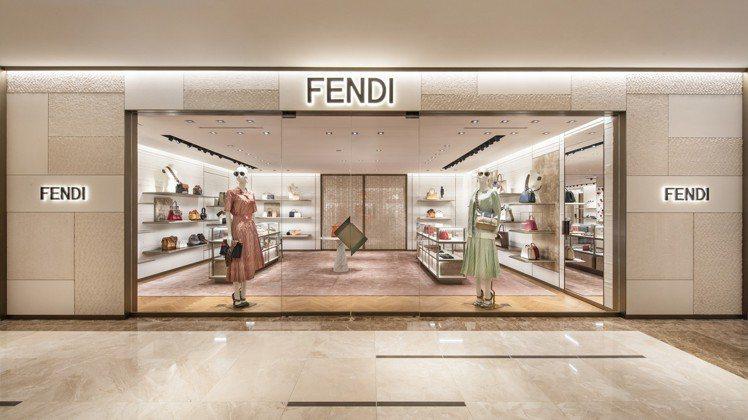 FENDI在高雄漢神開設全新精品店。圖/FENDI提供