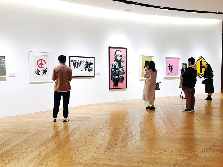 《班克斯:叛逆有理》展覽。記者江佩君/攝影