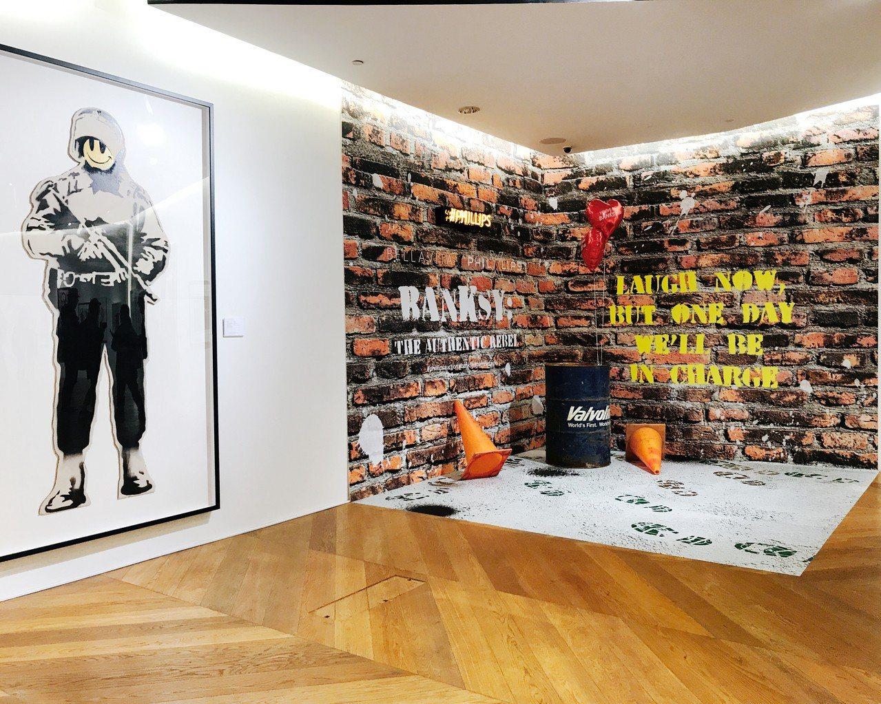 《班克斯:叛逆有理》展覽一角。記者江佩君/攝影