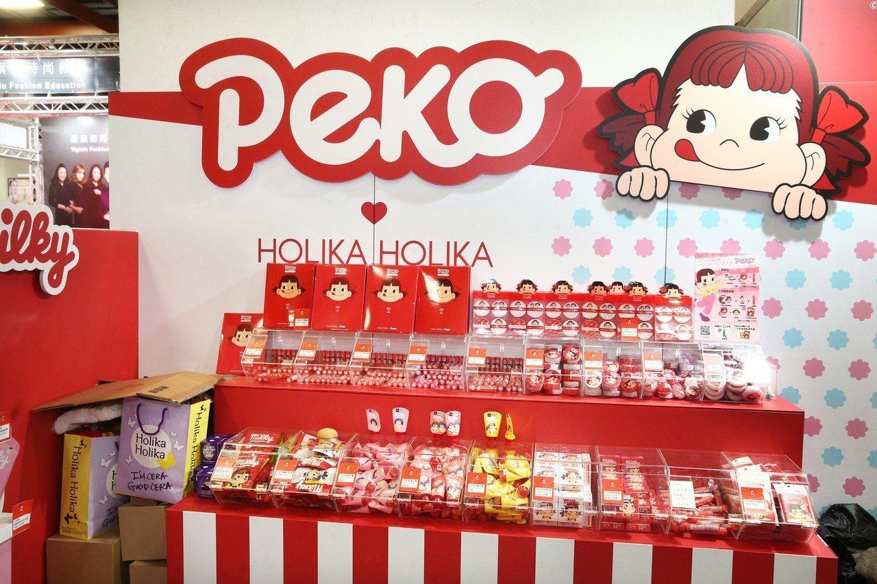 萌系教主PEKO美妝快閃店進駐台北春夏國際美容化妝品展。記者蘇健忠/攝影