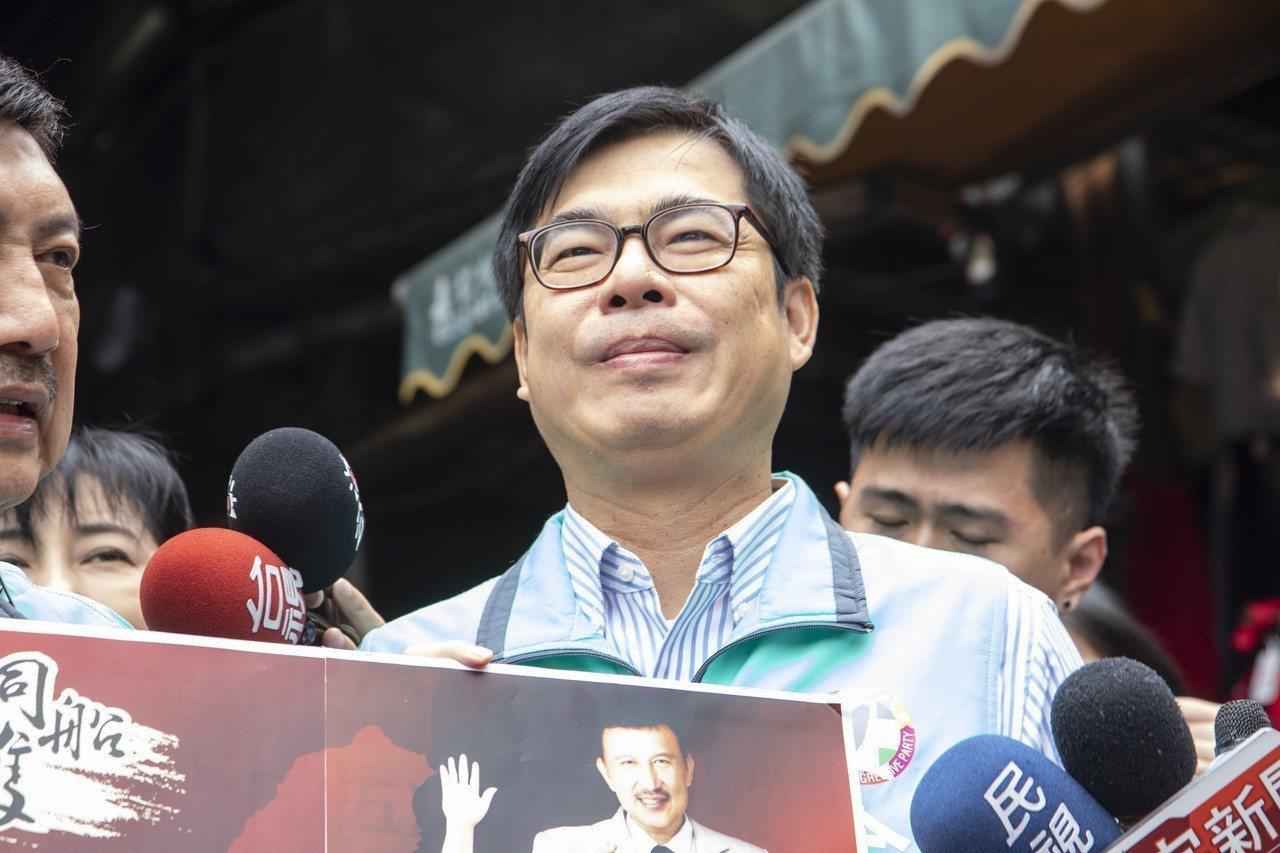 陳其邁評論吳敦義有關韓國瑜如果參選總統,「不會對不起高雄」的說法。記者王敏旭/攝...
