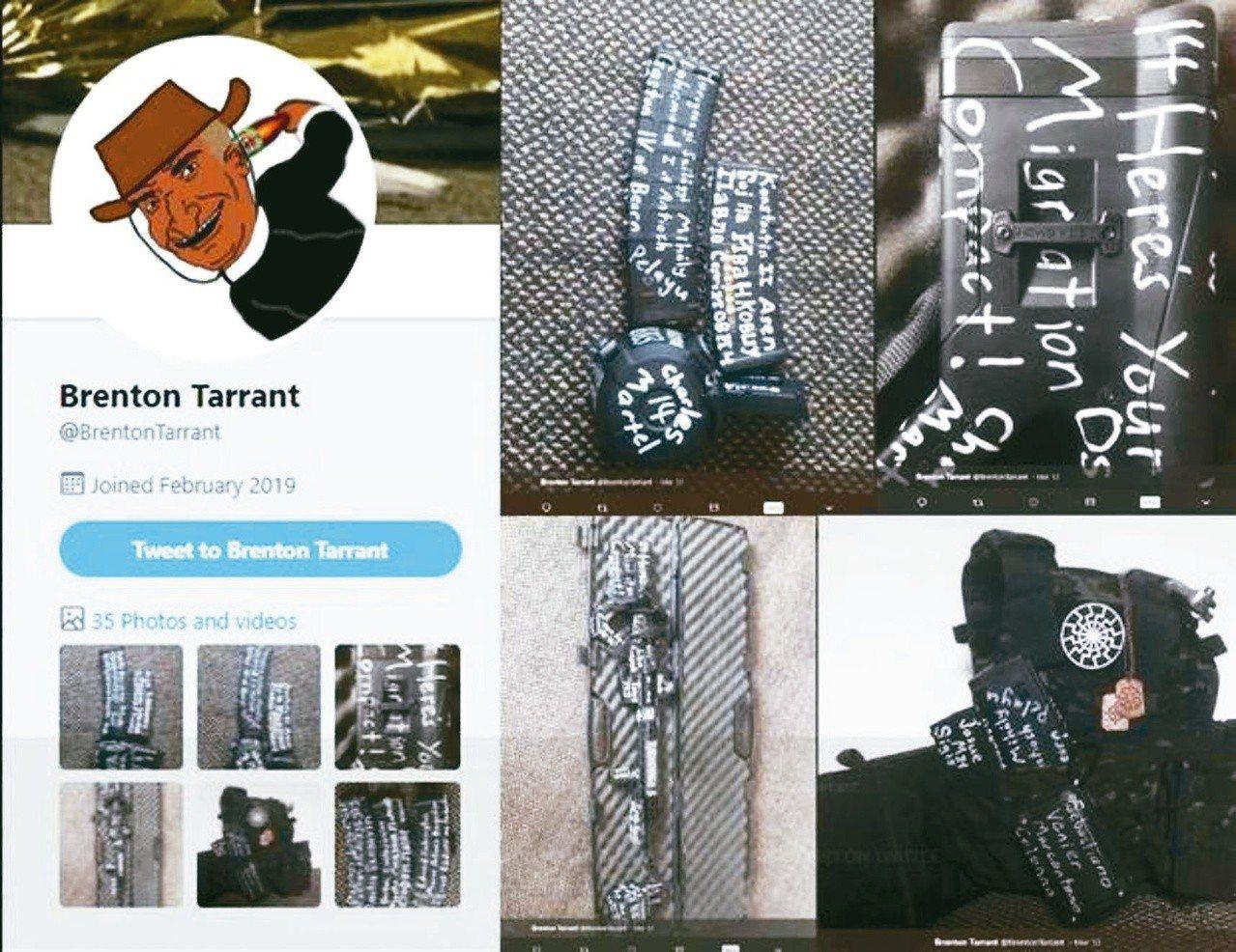 紐西蘭基督城爆發大規模槍擊案,主嫌塔倫在網路發表犯罪宣言。圖/摘自紐西蘭前鋒報