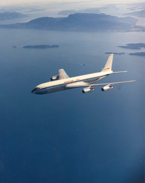 波音707是全球第二架噴氣客機,確立波音作為飛機製造領導者的地位。 (路透)