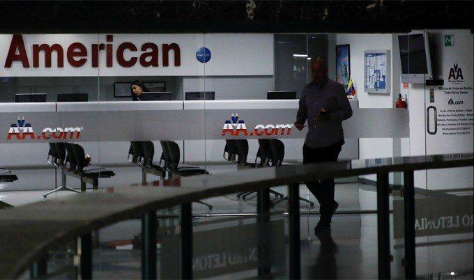 圖為美國航空公司位於委內瑞拉卡拉卡斯的辦事處。 路透社