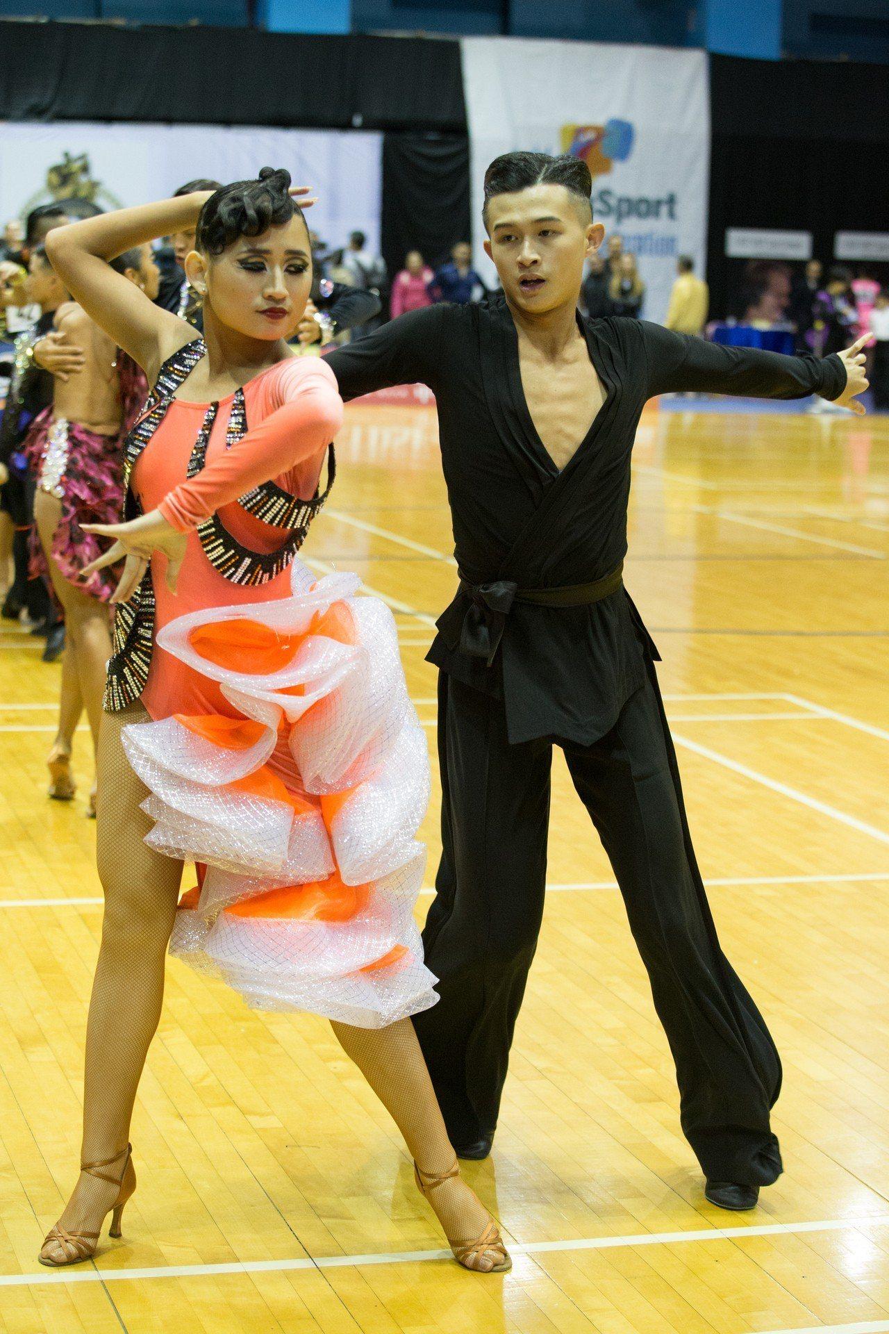林廷駿/陳怡安。 中華民國體育運動舞蹈總會提供