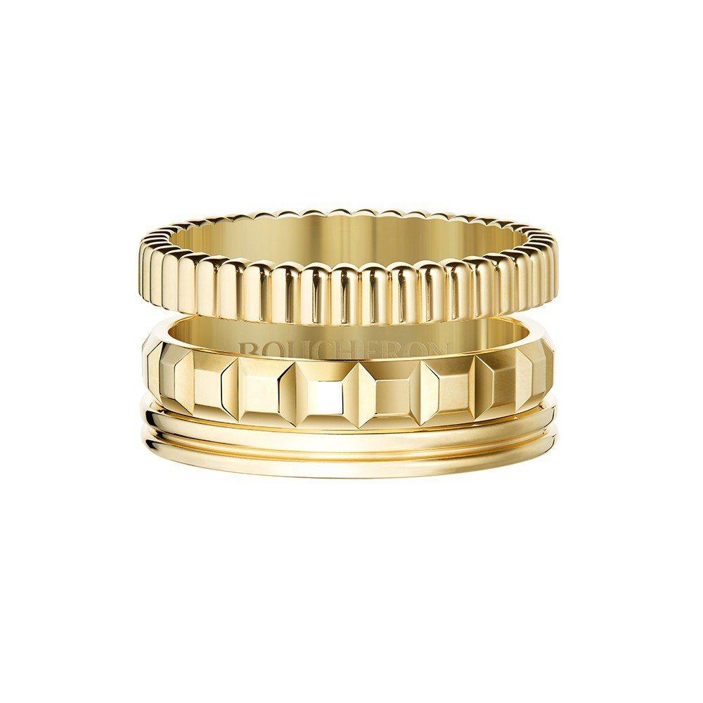 Quatre系列指環,18K黃金,11萬元。圖/寶詩龍提供