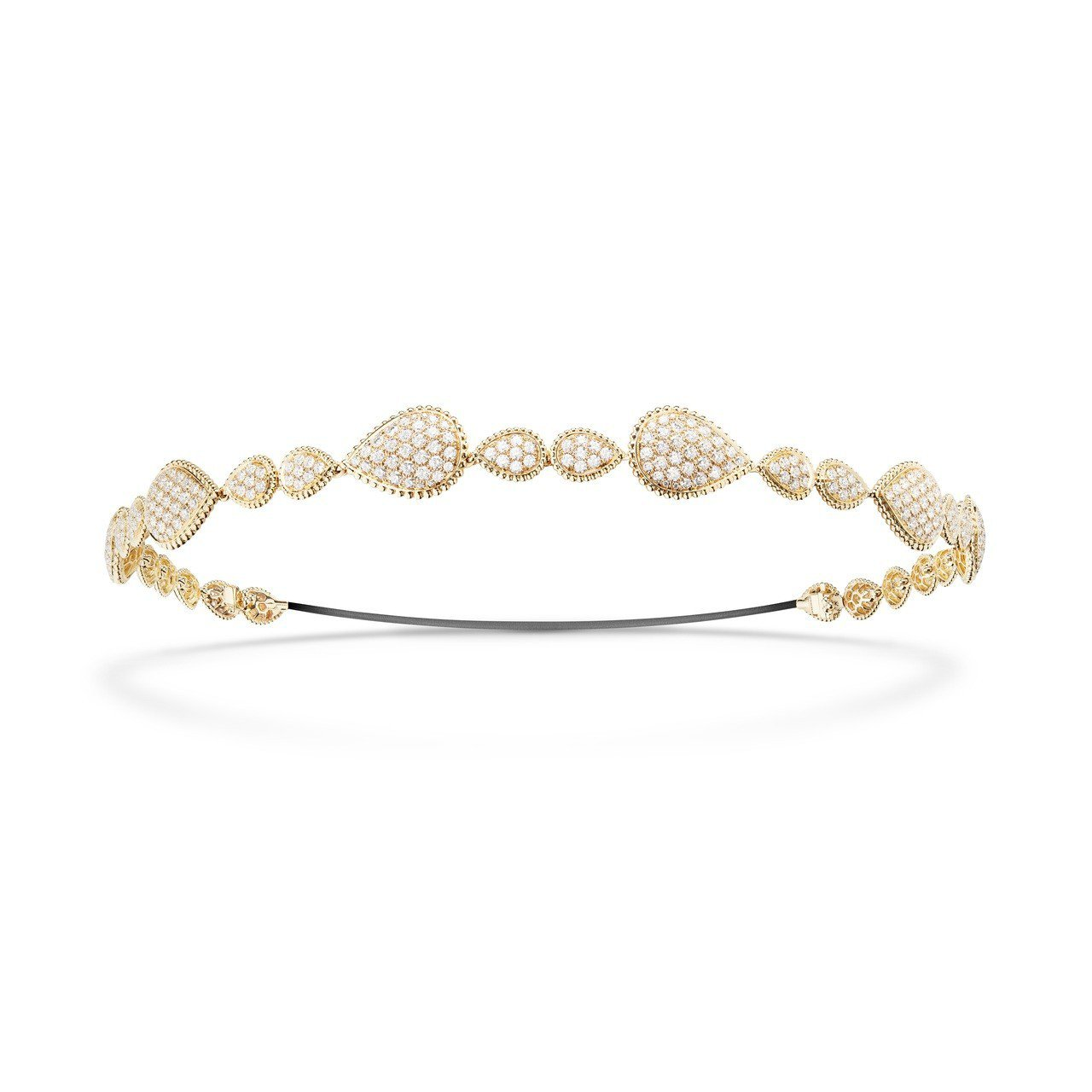 Serpent Bohème系列髮飾,18K黃金鑲嵌336顆鑽石共約13.57克...