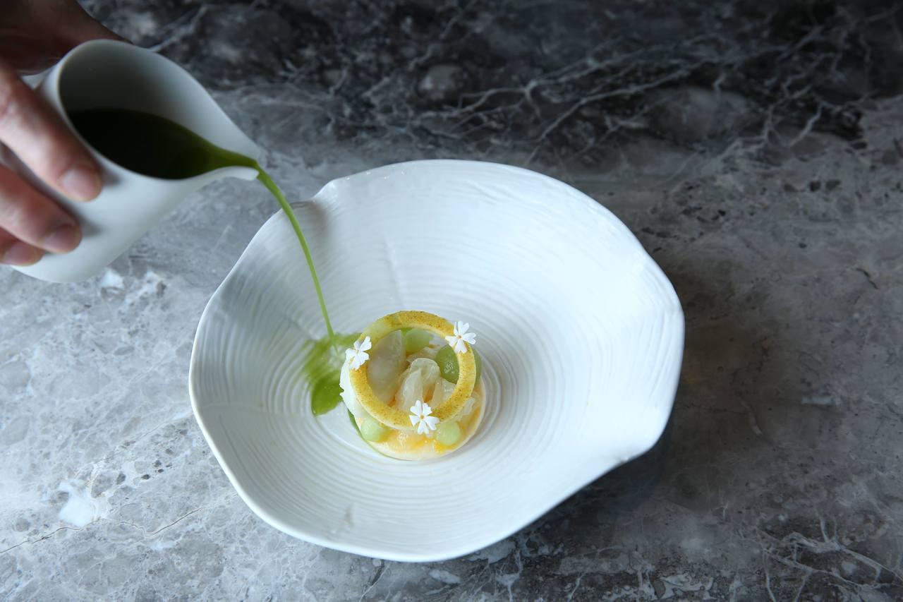 基爾達菜色「釋迦雪酪」。圖/蘭餐廳提供
