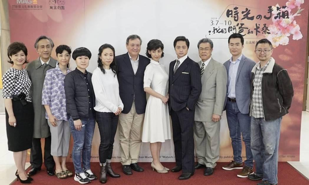 「時光の手箱:我的阿爸與卡桑」陣容,謝瓊煖(左起)、米七偶、王榆丹、廖若涵、一青
