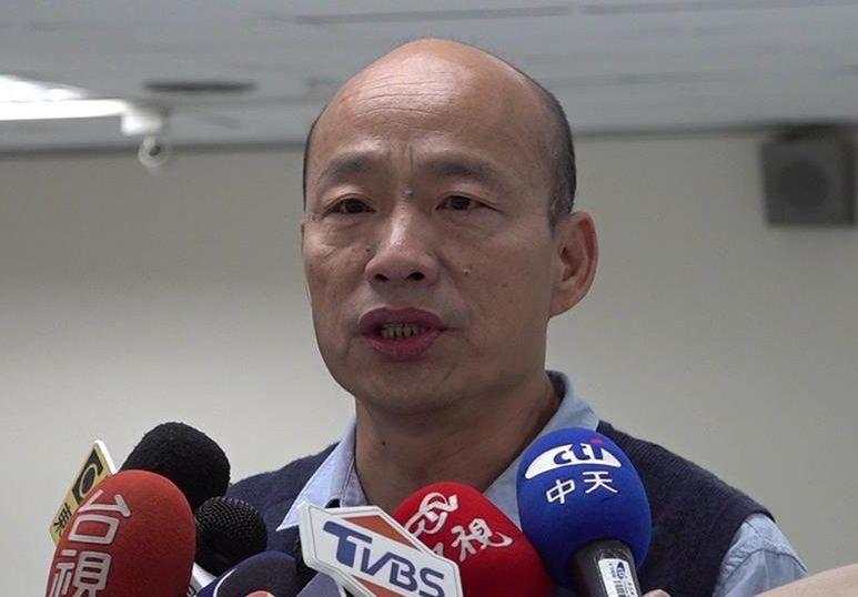 高雄市長韓國瑜批中央執政的民進黨對所謂「假新聞」一直持雙重標準。圖/聯合報資料照