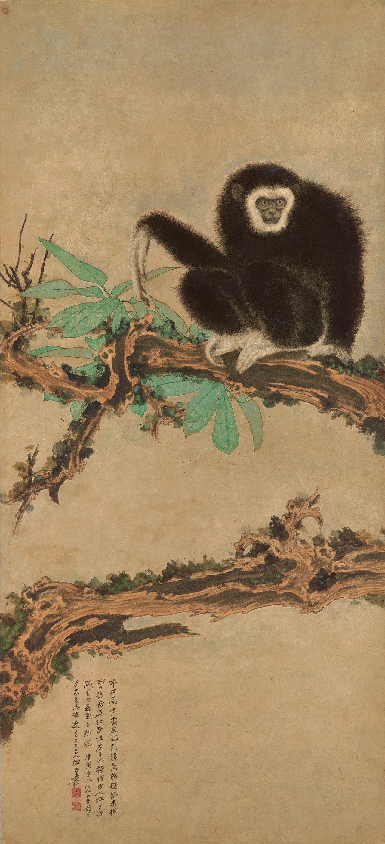 張大千《老樹清猿》,估價約3,100萬元。圖/蘇富比提供