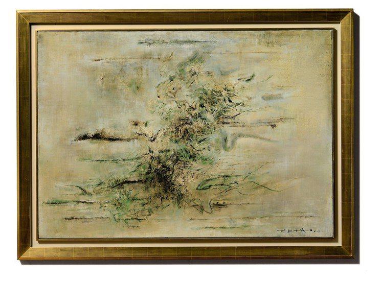 古根漢美術館收藏的趙無極《無題》(1958 年),估價約2億3,500萬元。圖/...