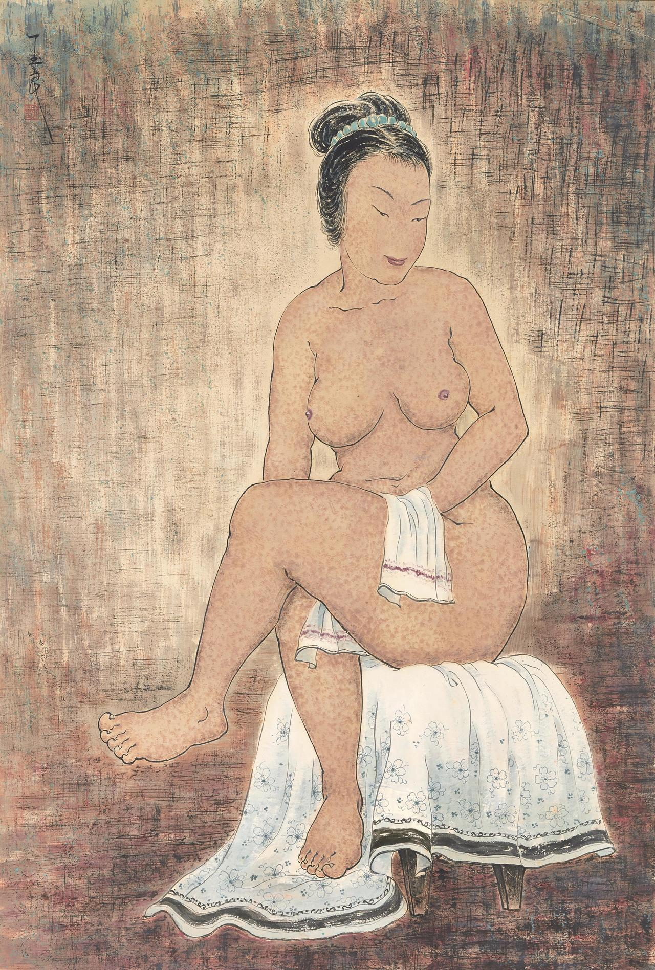 潘玉良《坐姿裸女》,估價約4,700萬元。圖/中國嘉德提供