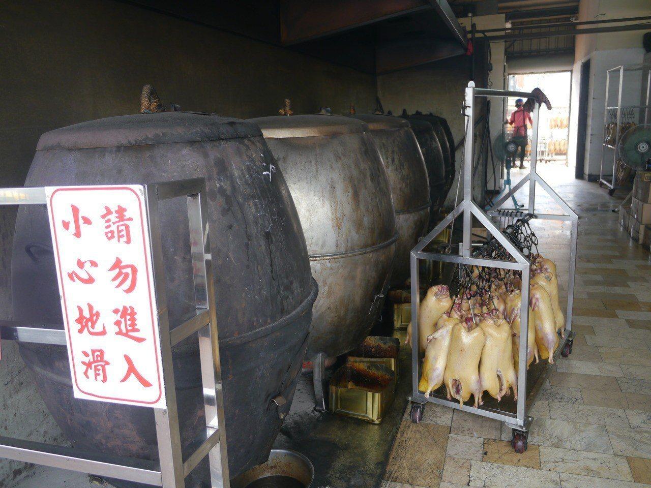 烤鴨用的爐具。記者徐白櫻/攝影