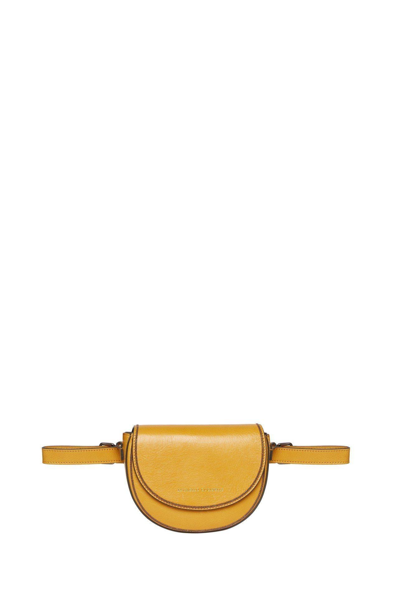 女裝皮革馬鞍包,售價70,900元。圖/BRUNELLO CUCINELLI提供
