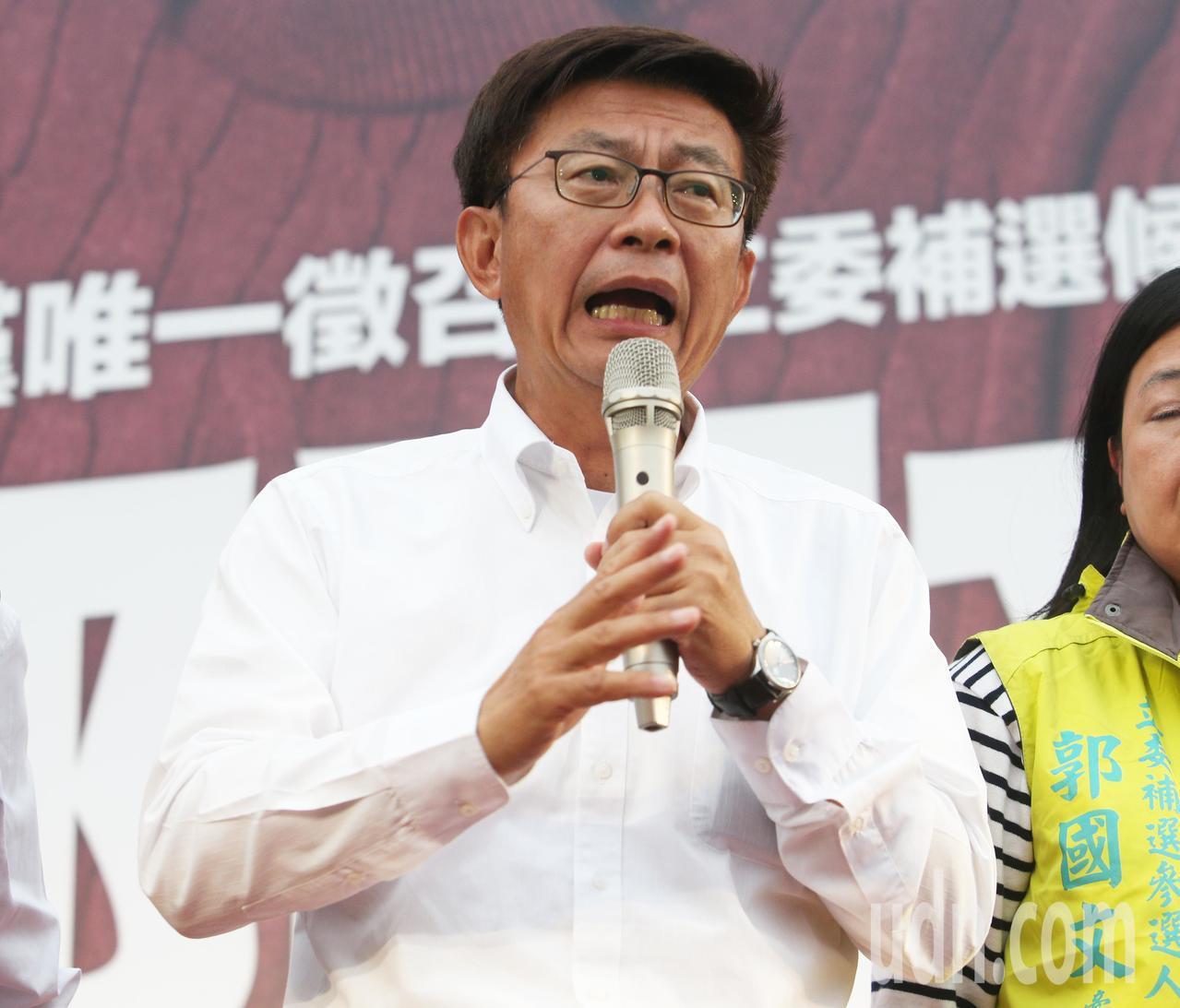 台南立委補選民進黨郭國文宣布當選。記者劉學聖/攝影