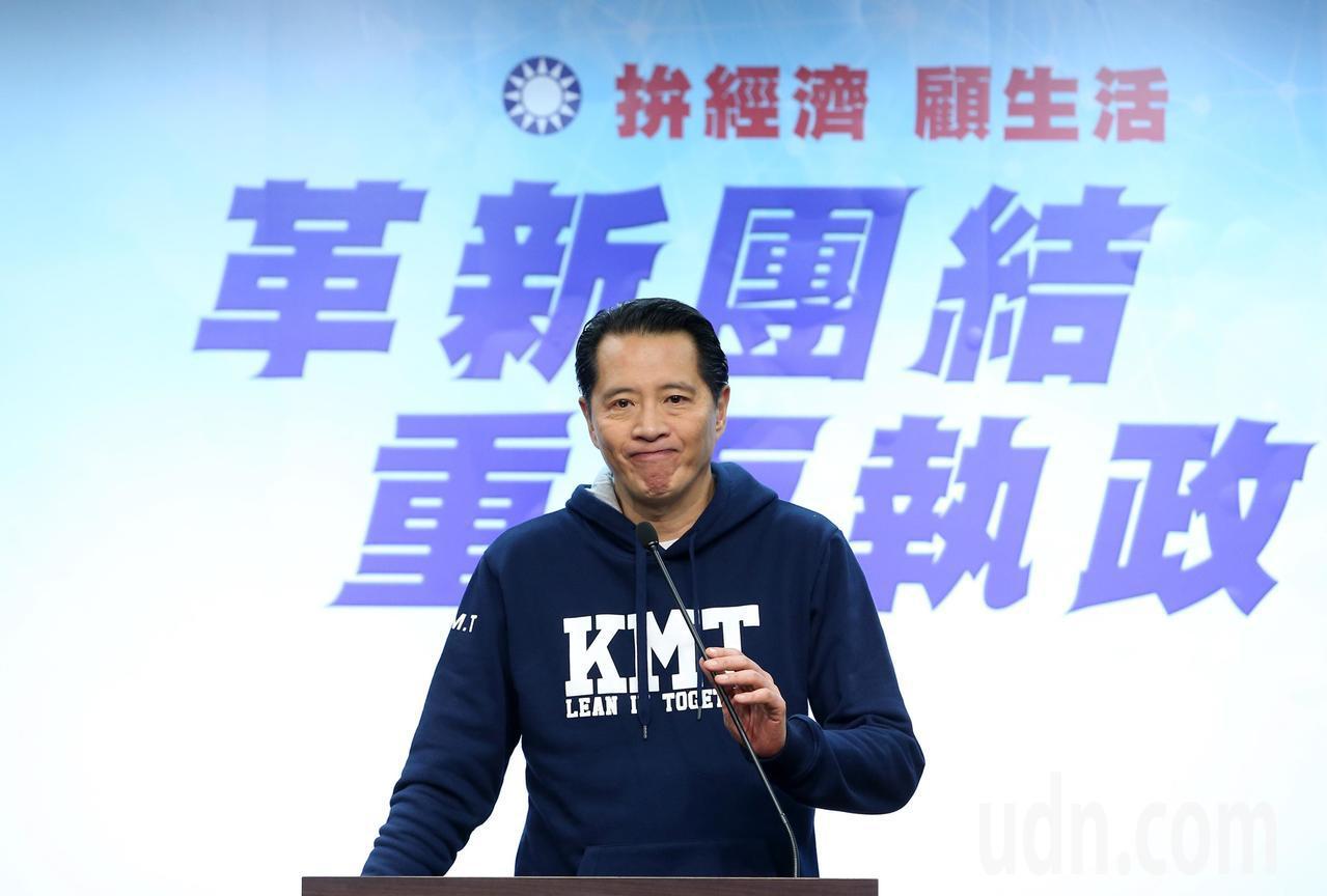 國民黨發言人歐陽龍表示補選結果不如預期。記者林澔一/攝影