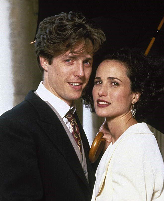 「妳是我今生的新娘」把休葛蘭、安蒂麥道威爾事業推上高峰。圖/摘自imdb