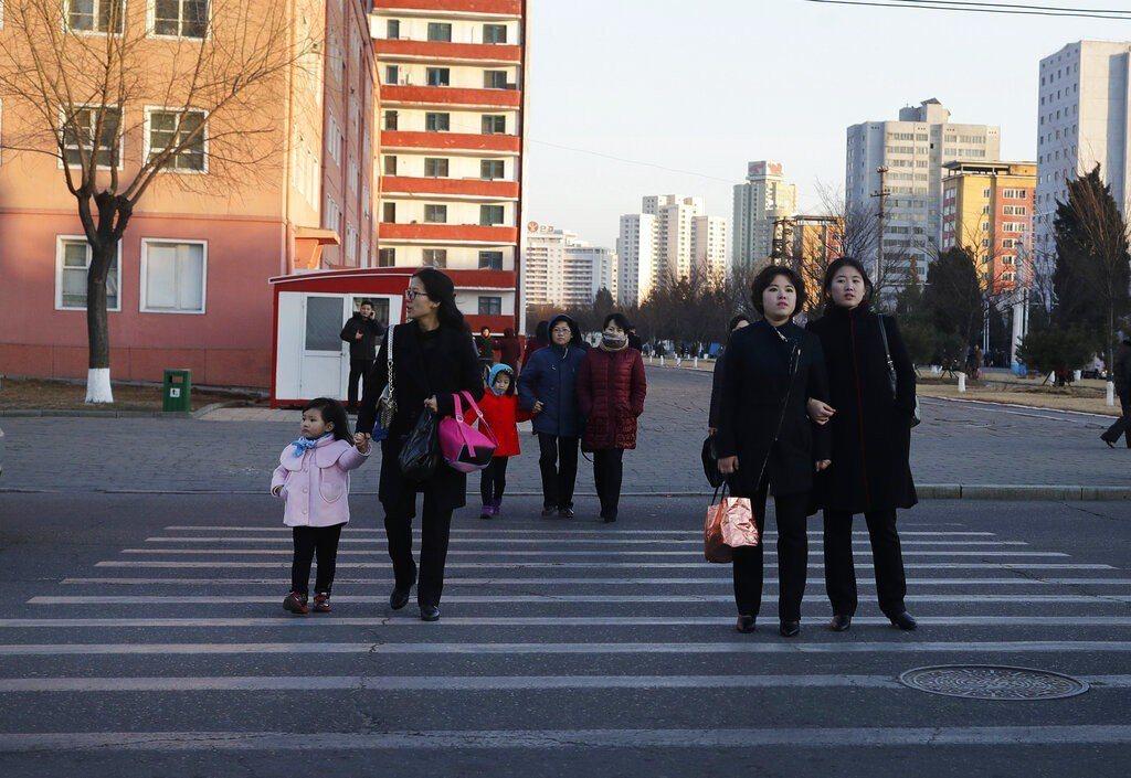 圖為北韓街景。 美聯社