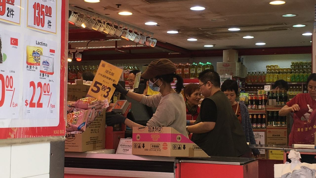 超市女店員表示不欲提事件。(鄧詠中攝)