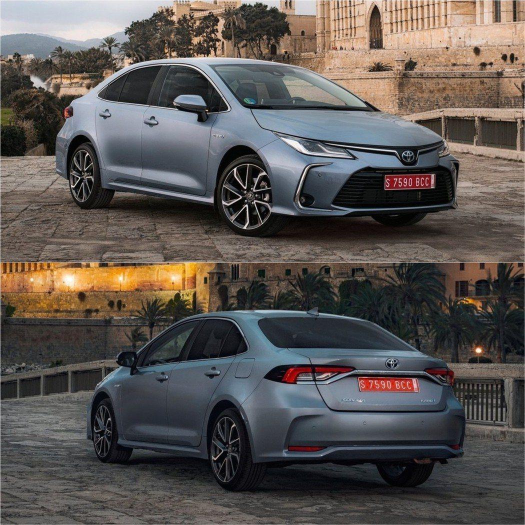 歐規的Corolla Sedan的外觀較為中規中矩。 摘自Toyota.eu