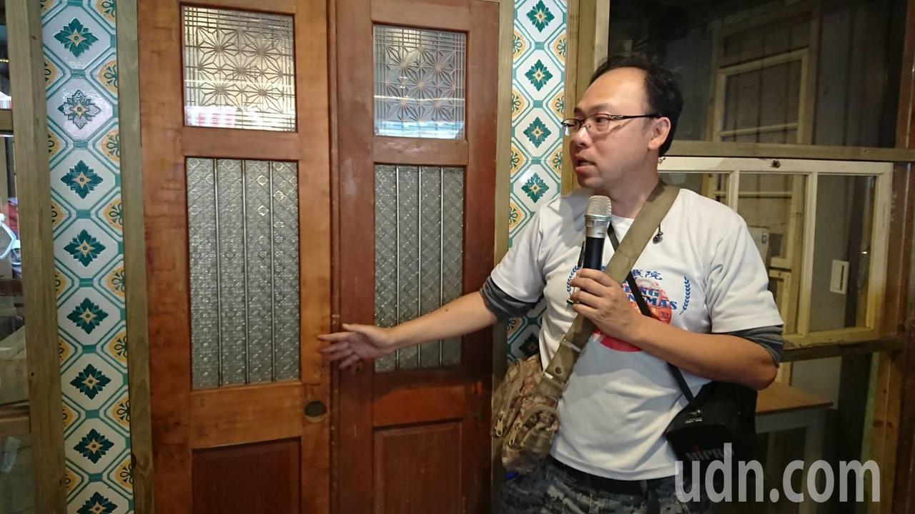 江明赫導覽介紹,自費200萬租用、修繕的房子!記者卜敏正/攝影