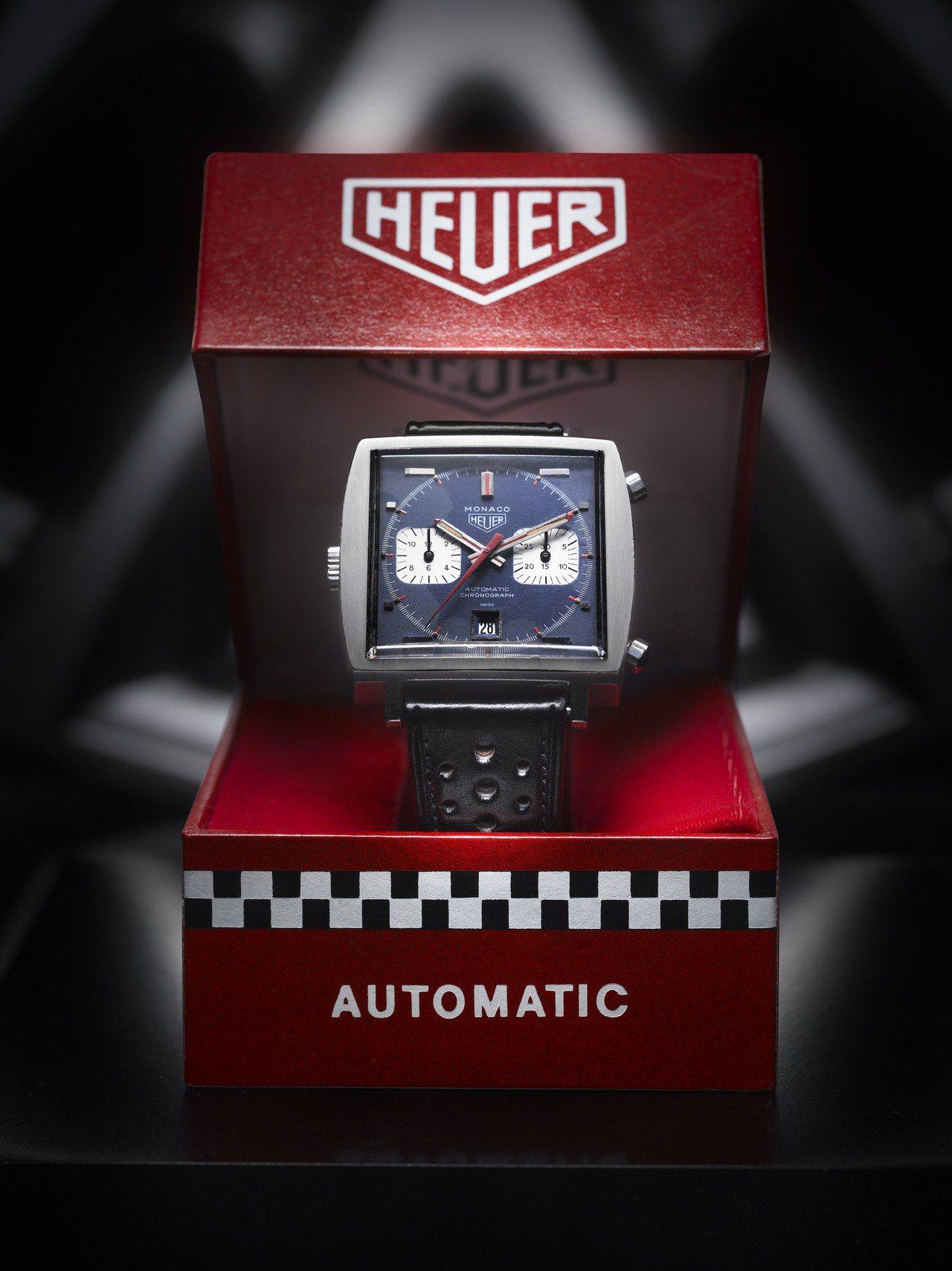 1969年首款問世的MONACO腕表,搭載了世界首枚自動上鍊Calibre 11...