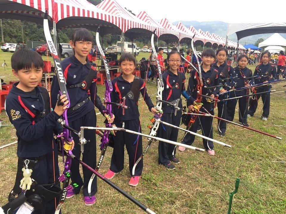 香山國小射箭隊。圖/教育處提供