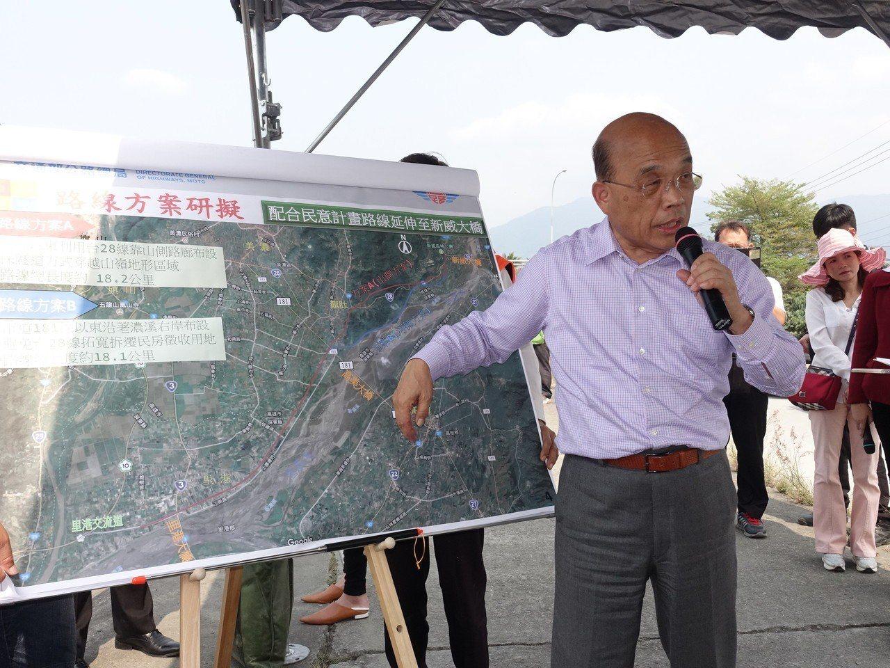 行政院長蘇貞昌對高屏兩地十分了解,他也自己跳下來解釋新路線,並說當年高美大橋就是...